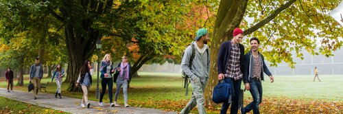 Students walking through Hereford